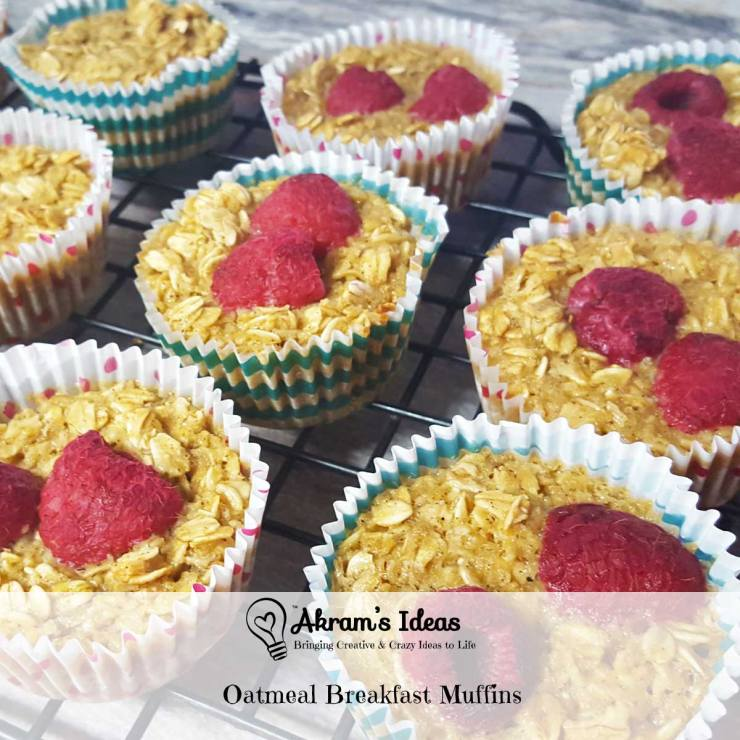 Eating healthy is made easier with these super quick and super easy Oatmeal Breakfast muffins. They are not only good for you they taste good too.