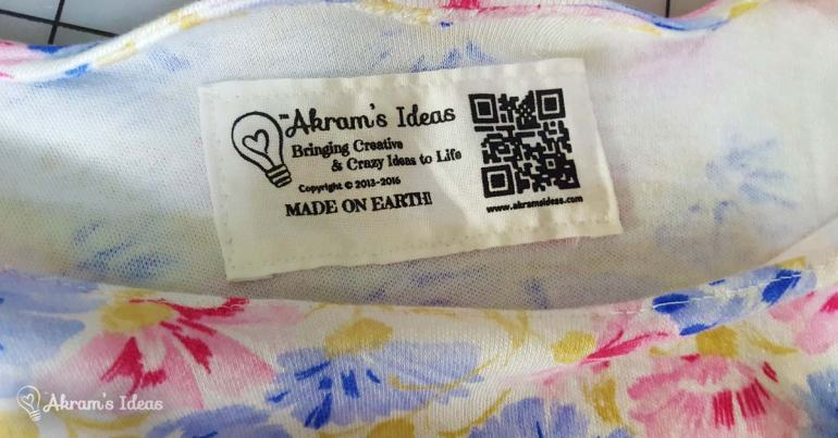 Akram's Ideas: t-shirt tag