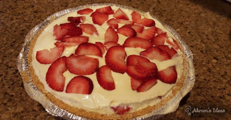 Akram's Ideas : Strawberry Shortcake Pie