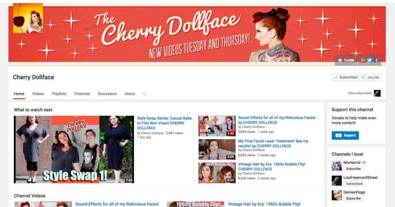 Cherry Dollface Youtube