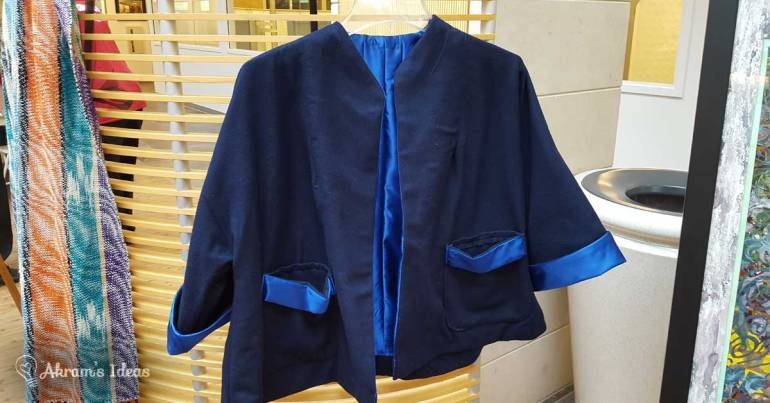Akram's Ideas: 1950s Blue Wool Swing Coat