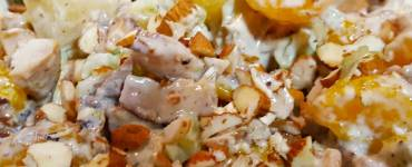 What to do with leftover Teriyaki Chicken take out? Try this tropical influenced chicken salad recipe.