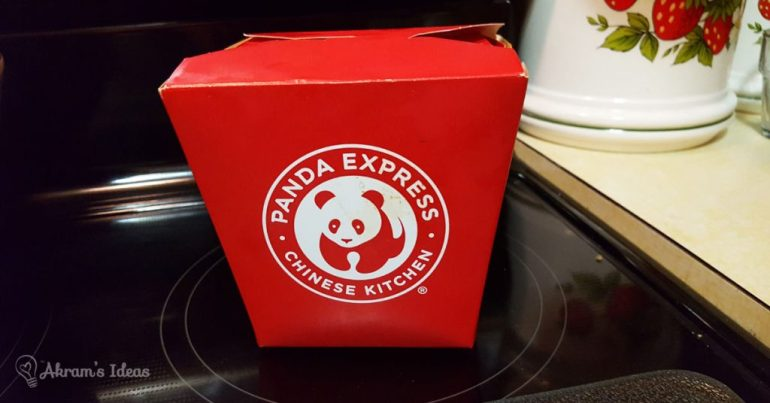Akram's Ideas: Panda Express Take Out
