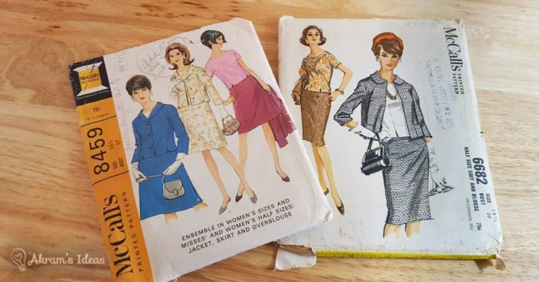 Akram's Ideas vintage suit patterns