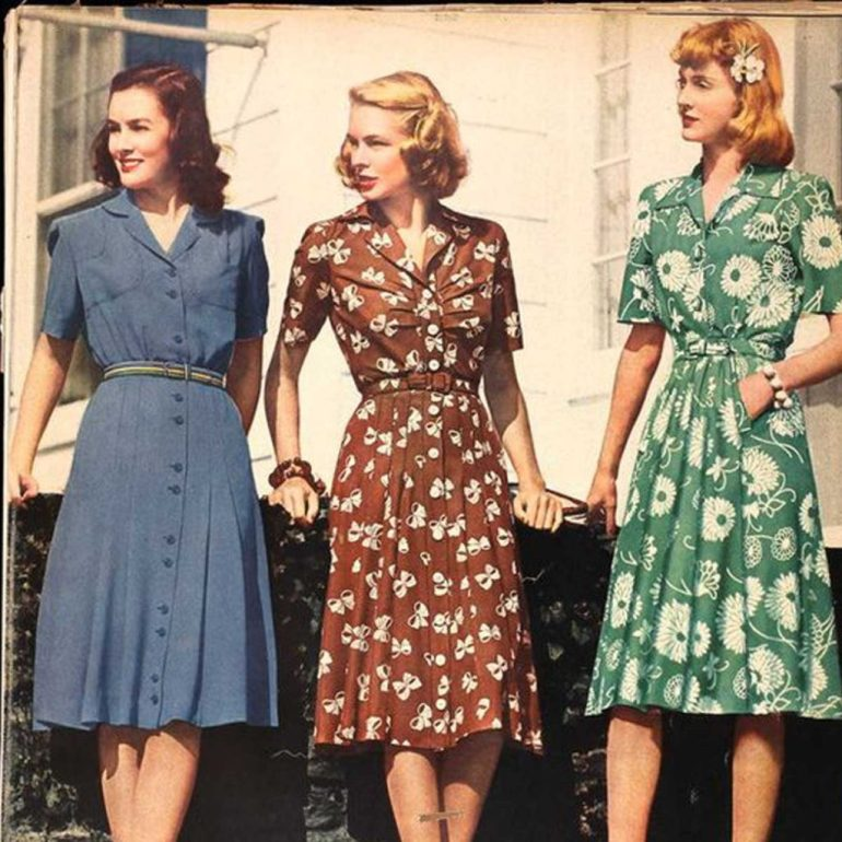 1940s Shirtwaistdress