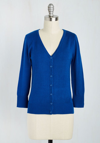 Modcloth Charter School Cardigan in Royal Blue