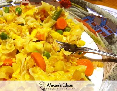 Quick recipe for making tuna noodle casserole with a creamy ranch greek yogurt sauce.