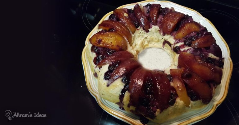 Akram's Ideas: Healthy Blueberry Peach Cake