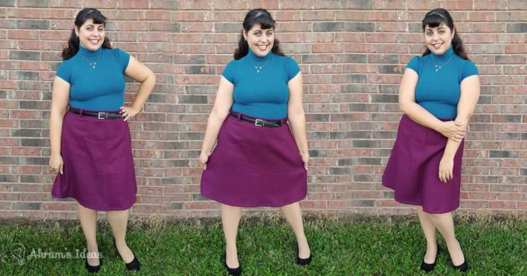 Akram's Ideas: Delphine Skirt in purple