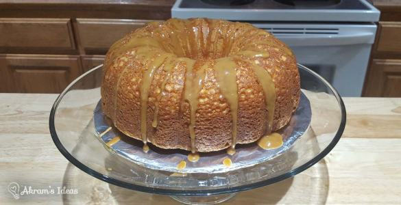 Akram's Ideas: Butterscotch Cake with Caramel Topping