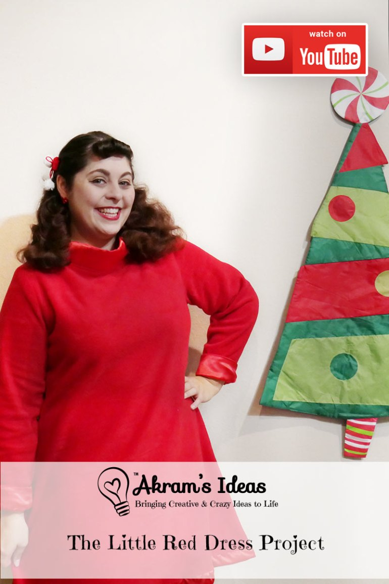 My holiday dress reveal as part of The Little Red Dress Project. - via @akramsideas