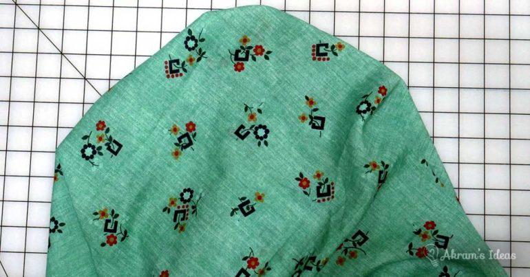 Akram's Ideas - Vintage print mint green floral fabric