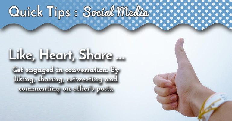 Akram's Ideas - Social Media Quick Tip Get Engaged
