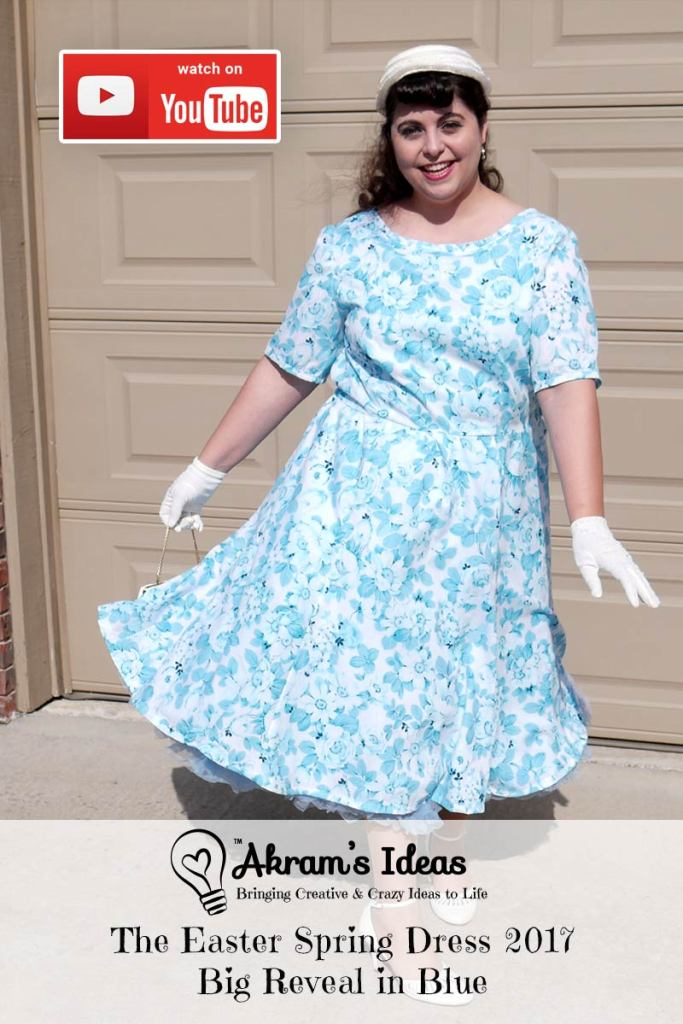Revealing my Easter Spring Dress 2017 made using Tracy Reese Vogue 1397 in a lovely monochromatic rose blue fabric.