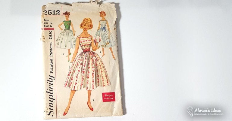 Akram's Ideas: A Vintage 50's Dress Made for My Sister Z