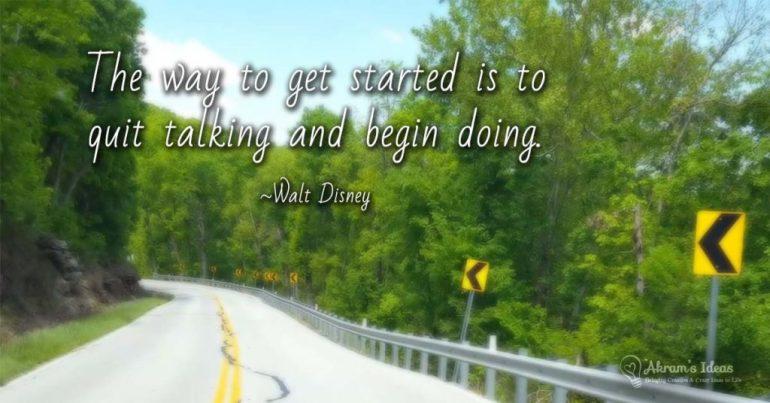 Begin Doing - quote