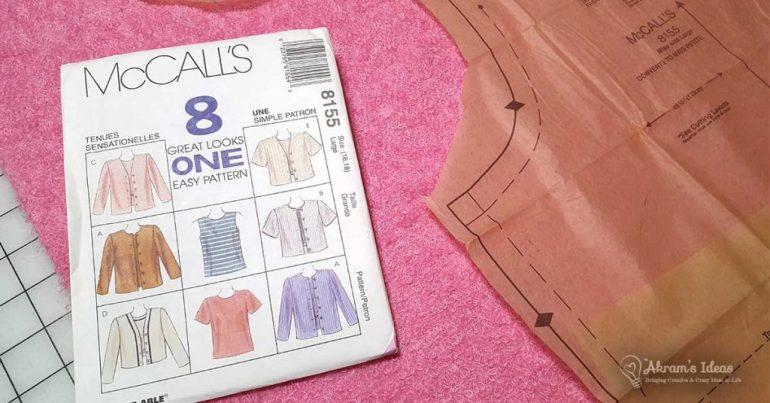 Akram's Ideas : Pink Sweater McCalls 8155