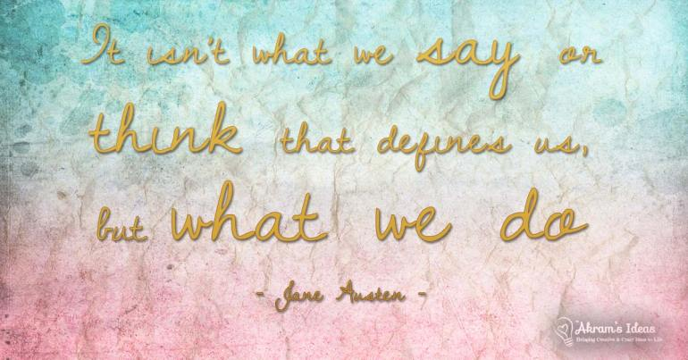 What We Do - quote