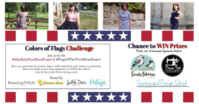 Join the #4thofJulyProudDressProject and/or #FlagsOfTheWorldDressProject