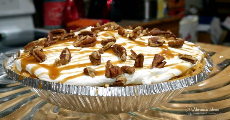 Recipe for Turtle Pumpkin Pie a no-bake quickie bake recipe is a classictwist on a pumpkin pie that's super delicious