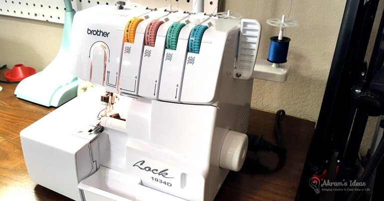 An unboxing and a quick test of my Brothers 1034D serger.