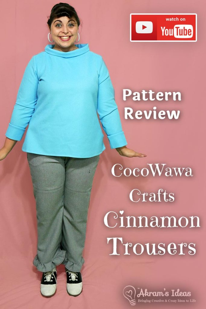 Pattern review of my first pair of pants, the CocoWawa Crafts Cinnamon Trousers, a great pattern for beginners.