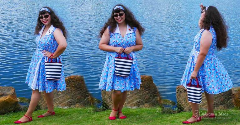 Sharing my latest make, McCalls 6959 wrap dress for the #sewtogtherforsummer challenge, made in a lovely a sailboat print.