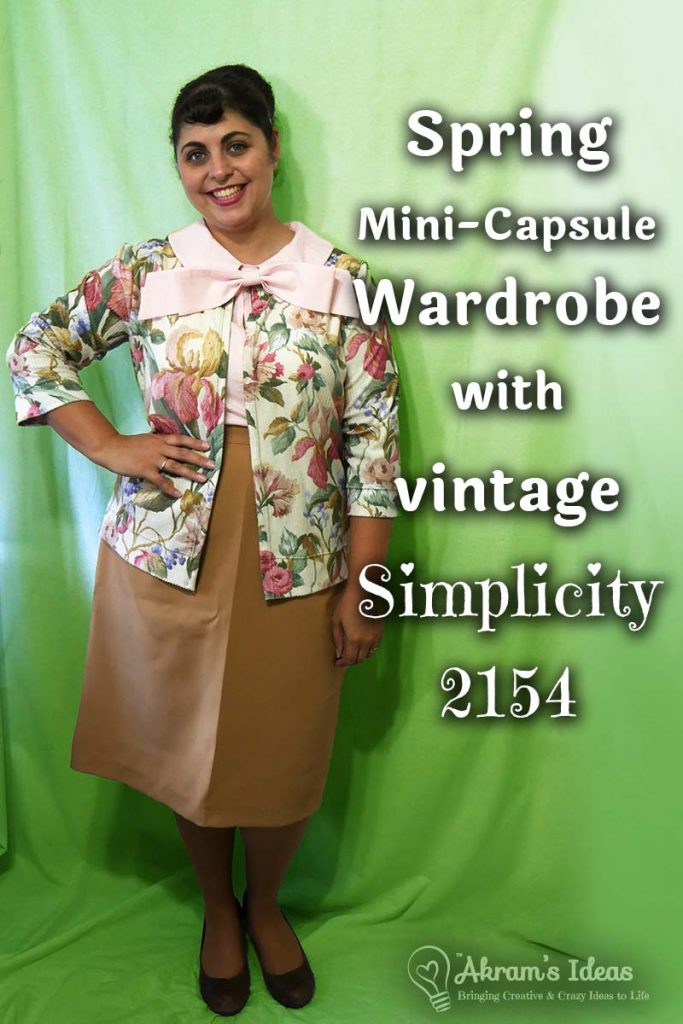 Review on Simplicity 2154 a vintage reproduction 1960's suit and how I managed to make the perfect spring, mini-capsule wardrobe with it.