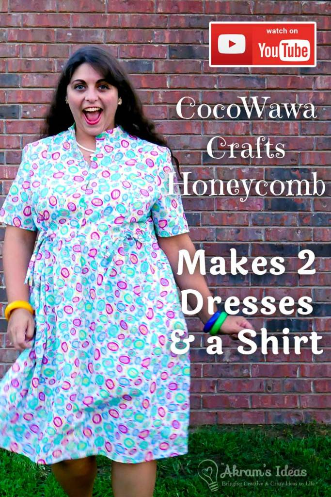 Pattern review for the Honeycomb dress and shirt pattern from CocoWawa Crafts. This delightful pattern features princess seams, mandarin collar and gathered skirt or peplum with bow ties.