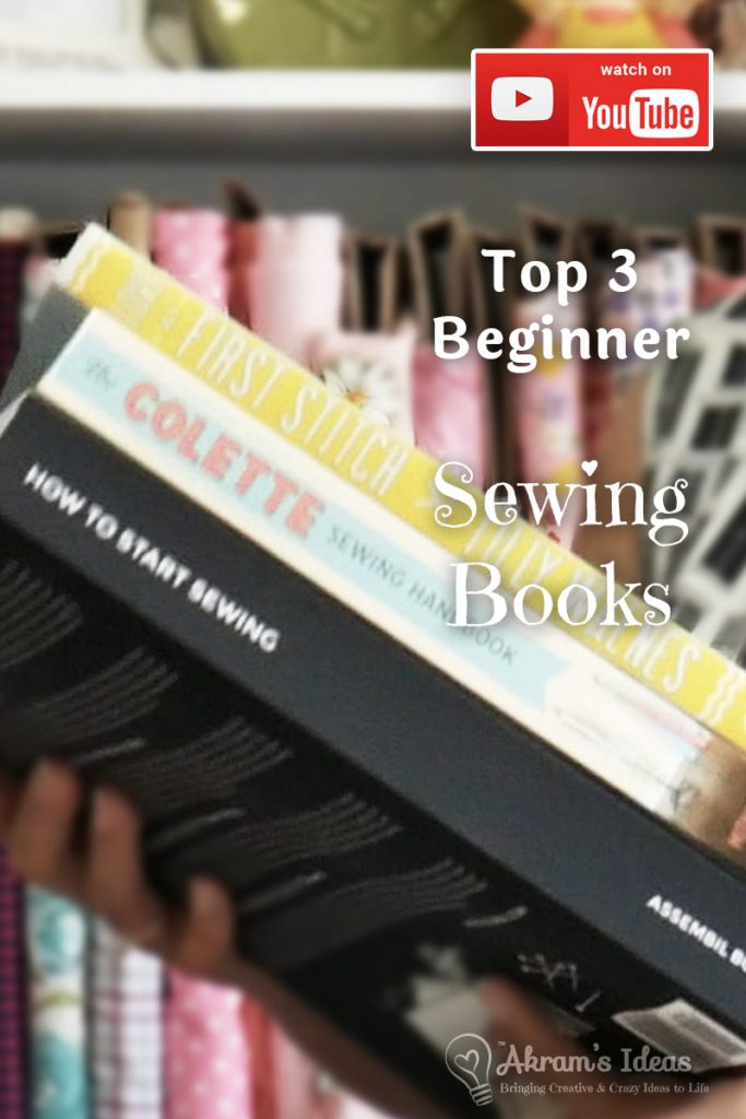 In celebration of National Sewing Month or #Sewtember I'm sharing my top 3 beginner sewing books that are a great resource in anyone's sewing library.