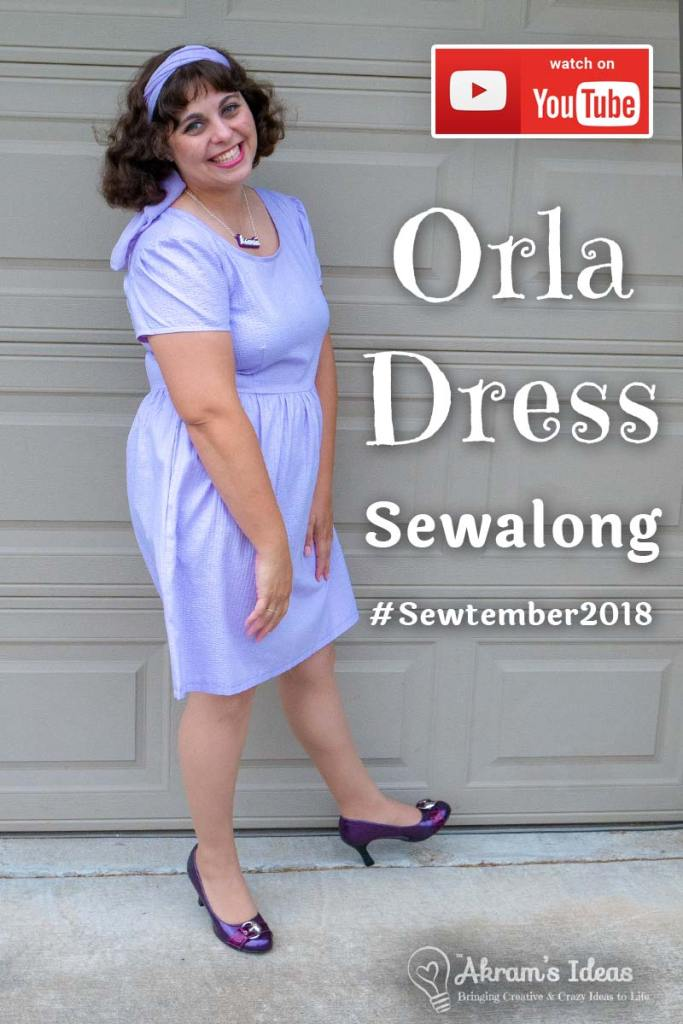 Sharing my sew-along Mini-Series of the Orla Dress by French Navy Patterns, as part of the #sewtemeber2018 challenge.