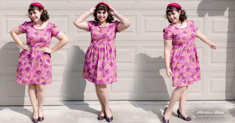 One Orla dress in my wardrobe wasn't enough so I whipped up another one this time in a vintage floral fabric.