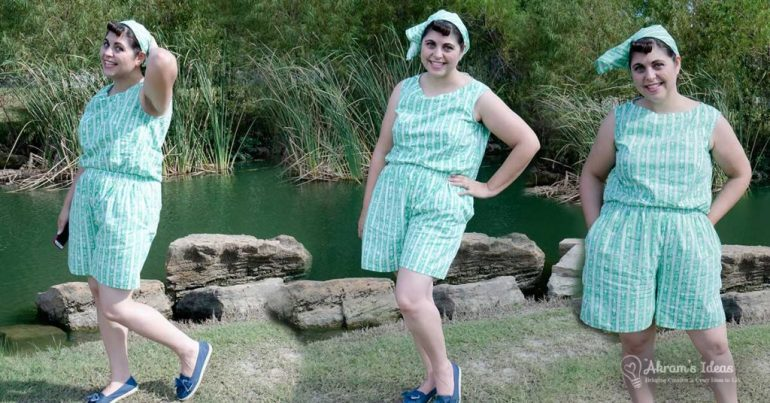 Sharing my Sound of Music inspired Summer Playsuit featuring my all new CocoWawa Crafts Cherry Shorts.