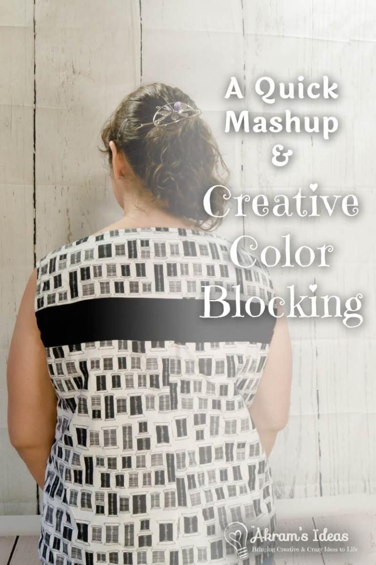 Sharing a mash-up of two of my favorite top patterns and a little creative color blocking as well.