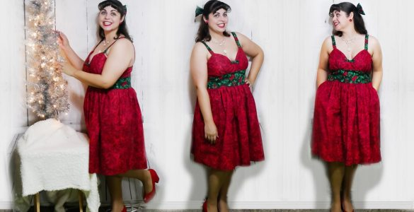 The sad tale of my many sewing fails that ultimately lead to this year's holiday dress made for #TheLittleRedDressProject challenge.