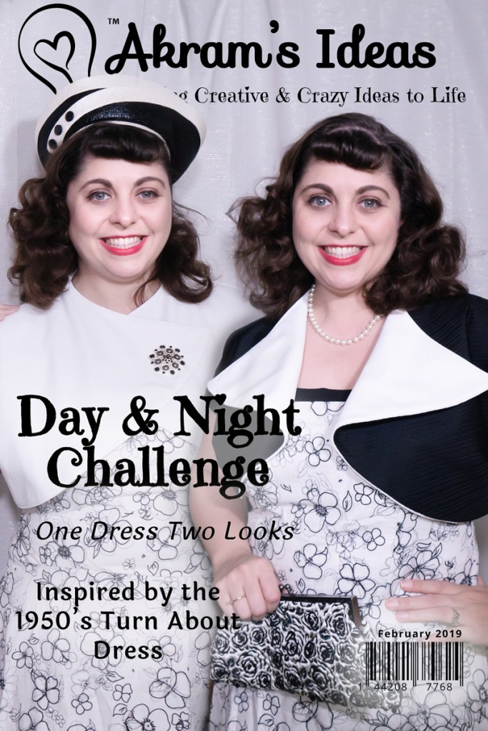 "My take on this year's Day and Night challenge hosted by Elizabeth Made This. My goal was to recreate the ""turnabout"" bolero from the 1950's."