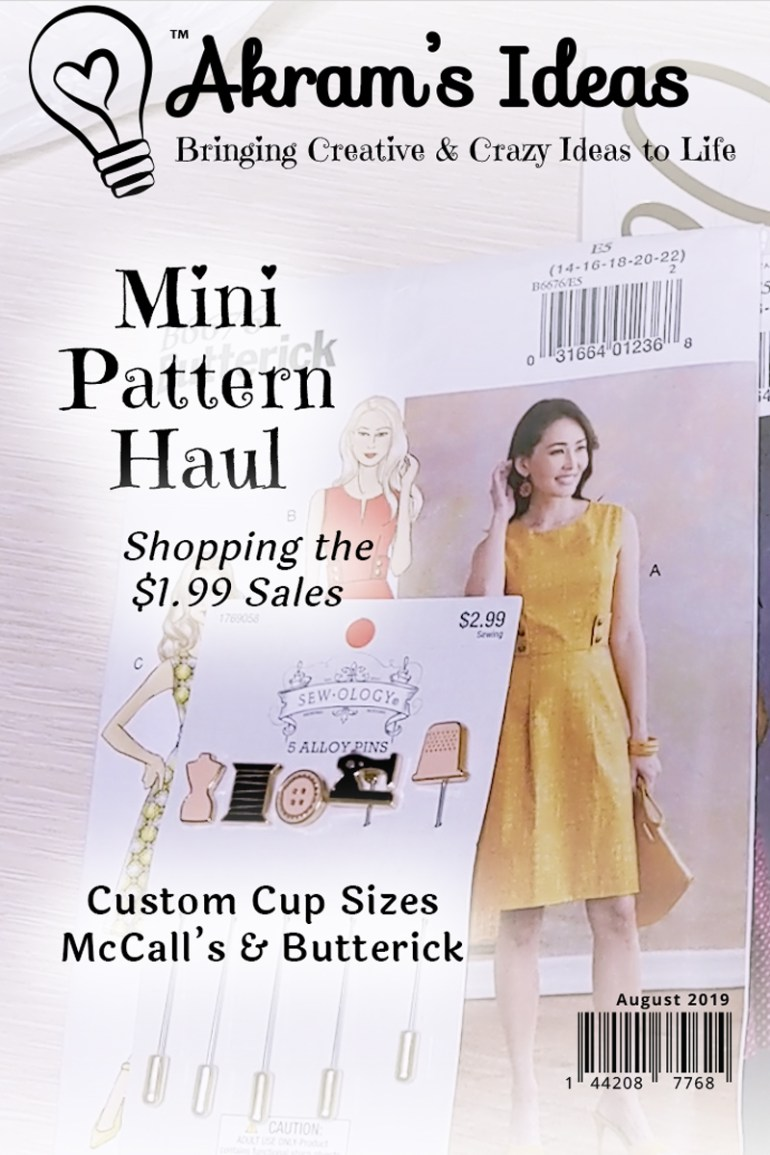 Akram's Ideas: Mini Pattern Haul