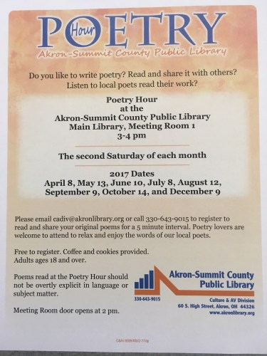 Poetry Hour at Main Library