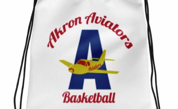 Akron Aviators Drawstring bag