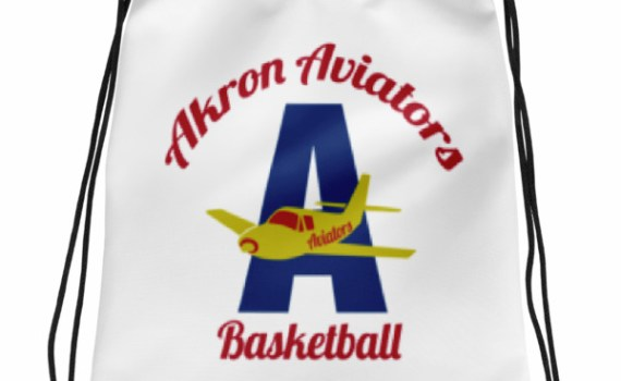 Akron Aviators Drawstring bag