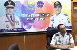 Kepala Dishub Provinsi Jambi, Varial Adhi Putra.