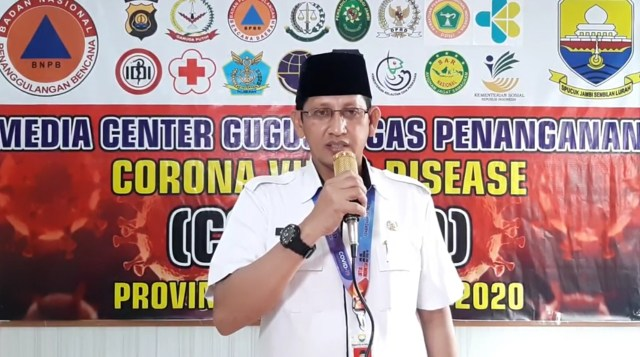 Juru Bicara Gugus Tugas Penanganan Covid-19 Provinsi Jambi, Johansyah. Foto: Humas Pemprov Jambi