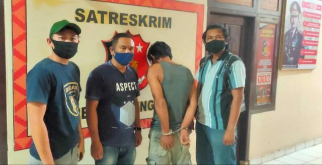 Unit PPA Satreskrim Polres Lampung Utara amankan tersangka HE.