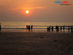 Sunset on Diveagar Beach