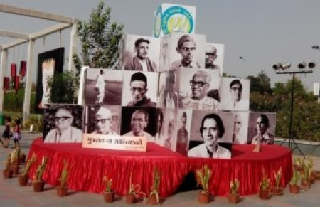 Gujarati Writers display at Ahmadabad National Book Fair