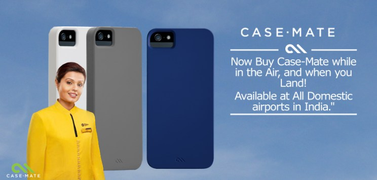 A Banner to Promote Case-Mate's new Collaboration with Jet Airways