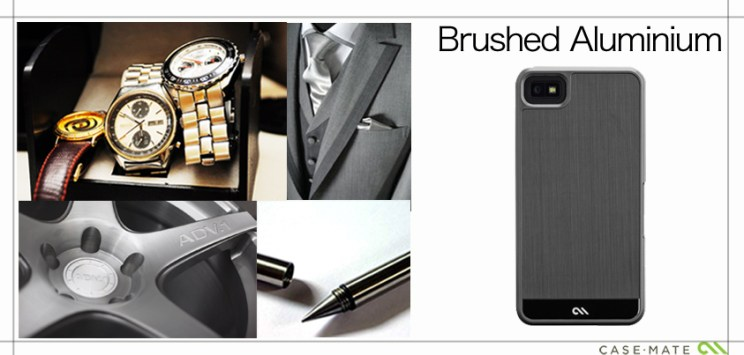 A Collage to match the style of Case-Mate Case Brushed Aluminum