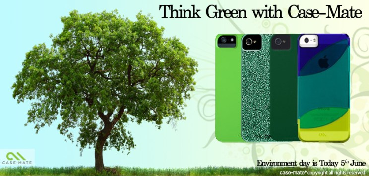 Case_mate helped you style yourself with green on 'Environment Day'
