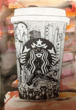 Starbucks cup Catwoman