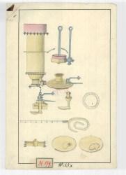 Selmecbányai gőzgép rajza, 18. század. MNL OL T 3 – No. 179/1.